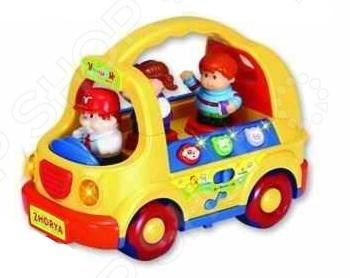Машинка игрушечная Zhorya «Умный Я» zhorya обучающая книга для детей на бат умный я морские обитатели с маркером 26x19x2см арт zye e0109