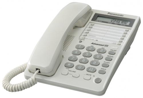 Телефон проводной Panasonic KX-TS2362RUW телефон проводной panasonic kx nt511aruw