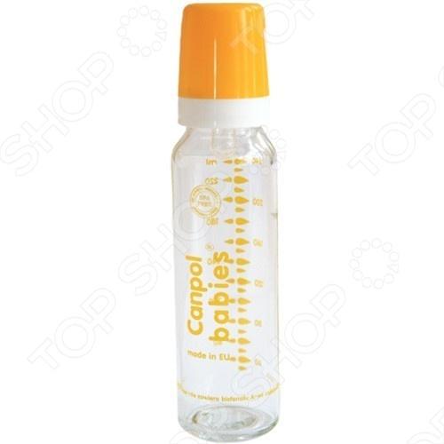 Бутылочка для кормления CANPOL стеклянная, 240 мл 5903407-421018