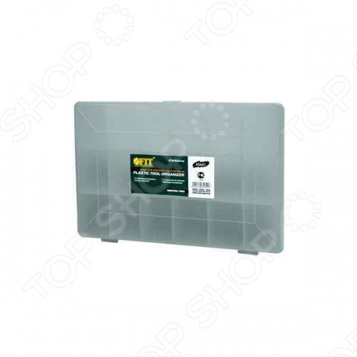 Ящик для крепежа FIT 65641 из прочного пластика. Отличный вариант для хранения болтов, шурупов, гаек, гвоздей и прочих мелких изделий. Выполнен из прозрачного пластика, что позволяет видеть его содержимое. Всего 17 отделений.