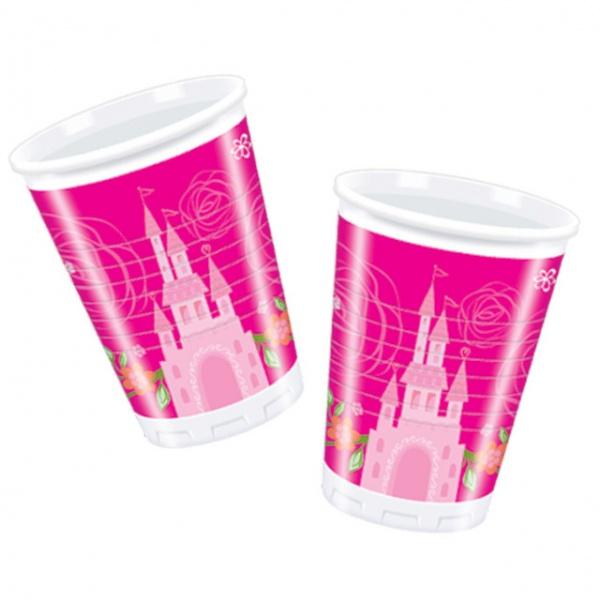 Стаканы пластиковые Procos «Принцессы Disney - летний замок»