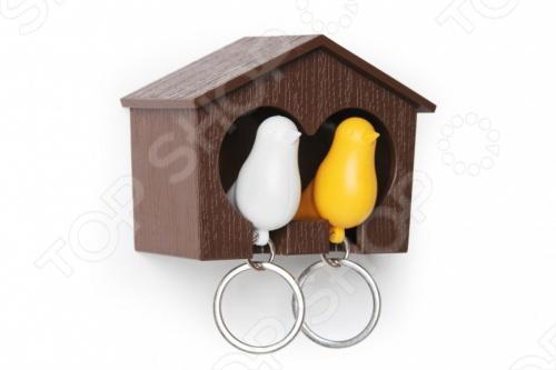 фото Держатель и брелок для ключей двойной Qualy Sparrow, Ключницы