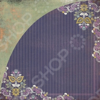 фото Бумага для скрапбукинга двусторонняя Basic Grey Wild grape bistro, купить, цена