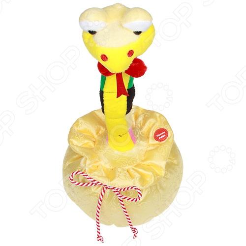 Мягкая игрушка интерактивная Музыкальные подарки «Влюбленный питончик»