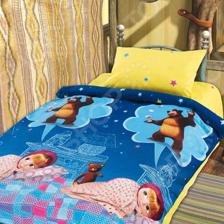 Детский комплект постельного белья Непоседа Машин сон непоседа непоседа комплект постельного белья в кроватку маша и медведь машин сон синий