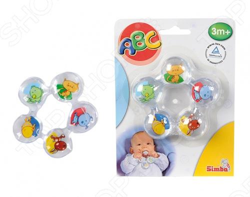 Прорезыватель для зубов Simba 4011884 облегчит страдания вашего малыша. Игрушка состоит из пяти контейнеров, соединенных между собой в форме цветка и заполненных жидкостью. На каждом контейнере яркое изображение птицы или животного. Для уменьшения зуда и успокоения десен ребенка игрушку необходимо предварительно охладить в холодильнике.