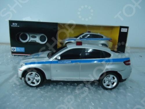 Машина на радиоуправлении Rastar BMW X6 полицейскаяМашинки, мотоциклы, квадроциклы радиоуправляемые<br>Машина на радиоуправлении Rastar BMW X6 полицейская - это прекрасно смоделированная копия реального автомобиля, отличается хорошей детализацией и качественным видом. Отлично подходит для гонок, как дома, так и на улице с друзьями. Корпус игрушки сделан из пластмассы с элементами из металла. Эта игрушка готова подарить вам и вашим детям отличное времяпрепровождение и массу удовольствия. Пульт имеет радиус действия в помещении 15 метров, а на открытом пространстве чуть больше.<br>