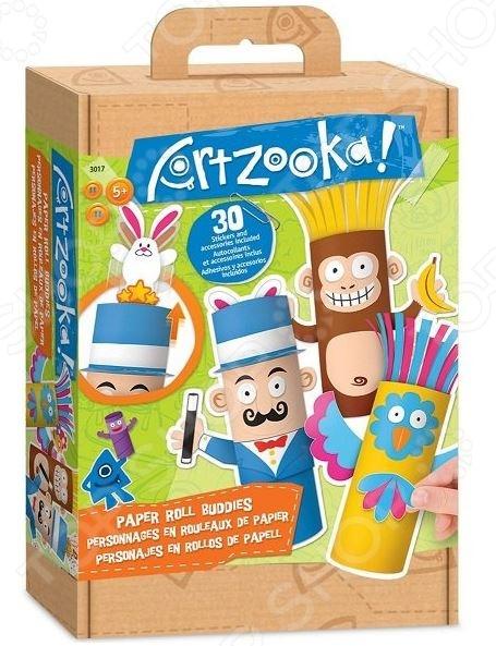 Набор для создания бумажных игрушек Artzooka! Веселые друзья из бумаги представляет собой отличный набор для детского творчества. Создавайте с ребенком оригинальные поделки в виде забавных бумажных игрушек и украшайте ими интерьер детской комнаты. Такие творческие занятия способствуют развитию у малышей фантазии, пространственного мышления и мелкой моторики рук. В комплект входит все необходимое: бумага, наклейки, лента, пошаговая инструкция с заданиями и т.д.