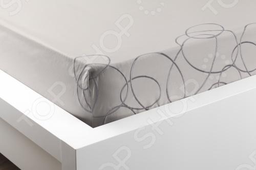 Фото Комплект постельного белья Dormeo Elipse. 1-спальный. Цвет: серый