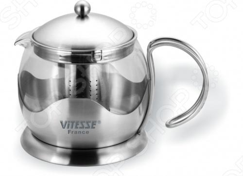 Кофейник Vitesse ZiziaЧайники заварочные<br>Что может быть лучше посиделок с кружкой чая или кофе. Вы тоже так считаете Тогда вы должны оценить по достоинству кофейник Vitesse Zizia объемом 700 мл. Это необходимая вещь для любого чаёвника или кофемана. Стекляный кофейник Vitesse Zizia - это современный вариант приготовления чая для тех, кто любит наблюдать, как раскрываются чайные листочки и происходит сам процесс заварки.<br>