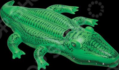 Крокодил надувной Intex 58562 матрасы для плавания intex надувной плот с держателями крокодил пингвин