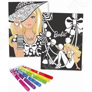 Постер бархатный Fashion Angels «Барби-модница»Раскраски<br>Постер бархатный Fashion Angels Барби-модница это отличный подарок для девочки. Ребенок сможет самостоятельно выбрать цвет одежды и украшений, в которые будет одета любимая кукла Барби. Раскрашенные постеры можно повесить на стену. Набор способствует развитию воображения, моторики рук, а также развивает чувство стиля. В комплекте 6 бархатных постеров и 6 фломастеров.<br>
