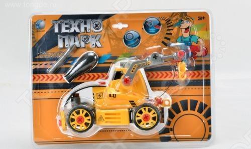 Конструктор Tongde В72180 Трактор на гусеницах с подъемником tongde технопарк в блистере трактор в72180