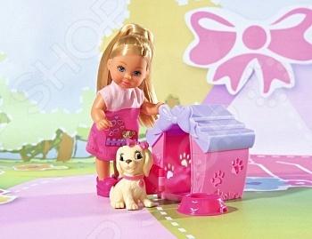 Кукла с аксессуарами Simba «Еви с собачкой в домике» кукла simba еви и школьные принадлежности 5736330