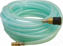 Шланг из пвх в рулонах FIT 81163Прочие аксессуары и комплектующие для ремонта и строительства<br>Шланг из пвх в рулонах FIT 81163 это отличный витой шланг из ПВХ, который подойдет для подачи воздуха к пневматическому инструменту. Изготовлен из армированного ПВХ, который отличается прочностью и удобством эксплуатации. Имеет коннектор с типом соединения байонет . Качество предотвращает перегибы шланга и увеличивает удобство во время использования.<br>
