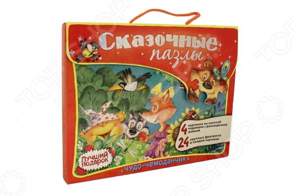 Набор развивающих пазлов со сказочными сюжетами станет чудесным подарком для вашего ребёнка. Сопоставление фигурных элементов увлекательное занятие, которое способствует развитию внимания, памяти и мелкой моторики. Благодаря наличию рамки, крупным деталям и картонной подложке собирать пазлы смогут даже малыши, а яркие сказочные картинки превратят это занятие в весёлую игру.