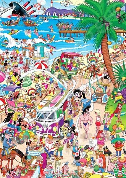 Пазл 1000 элементов Heye «Пляж» Robert Crisp