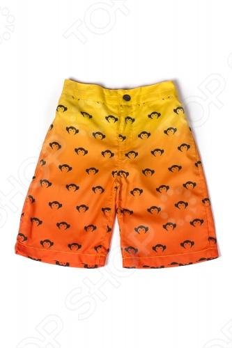 Шорты детские для мальчика Appaman Logo Swim Trunks. Цвет: оранжевыйШорты для мальчиков<br>Детские шорты для мальчика Appaman Logo Swim Trunks это шорты для плавания, совмещающие абсолютный комфорт движения и стильный вид. Эластичный пояс и надежная застежка с кнопкой и молнией делают эти шорты очень удобными для активных игр весь день напролет! Предусмотрены функциональные кармашки: два по бокам и два сзади. Ребенку понравится яркая летняя расцветка с переходом цветов и фирменным принтом. Отличный вариант для пляжного отдыха! Состав: 100 полиэстер. Американский бренд Appaman основан в 2003 году дизайнером Харальдом Хузуме. Он создает уникальные наряды в стиле AMERIPOP. Хузум находит вдохновение на улицах Бруклина, работая над многообразной палитрой ярких одежд. Воплощая свои творческие проекты, дизайнер не забывает об удобстве и качестве детских вещей. Вы считаете, что наряд Вашего ребенка должен быть не только удобным, но также стильным и индивидуальным Тогда бренд Appaman для Вас!<br>