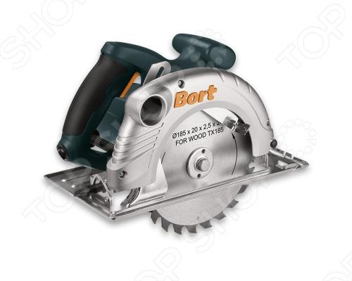 Пила циркулярная Bort BHK-185UДисковые пилы<br>Пила циркулярная Bort BHK-185U высокой мощности. Регулировка угла и глубины пропила. Эластичная накладка на рукоятке. Частота тока 50 Гц. Диаметр отверстия в диске 20 мм. Глубина пропила под углом 90  64 мм. Глубина пропила под углом 45  40 мм.<br>