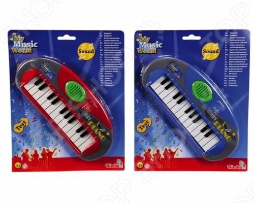 Товар продается в ассортименте. Вид изделия при комплектации заказа зависит от наличия товарного ассортимента на складе. Мини-пианино Simba игрушечное 6835019 отличный подарок для вашего малыша. Игрушка имеет 23 клавиши. Игра на таком чудесном пианино будет развивать у малыша мелкую моторику, слух, память. Игрушка работает на двух батарейках. Рекомендовано для детей старше 3 лет. Мини-пианино Simba игрушечное 6835019 станет любимой игрушкой вашего ребенка.