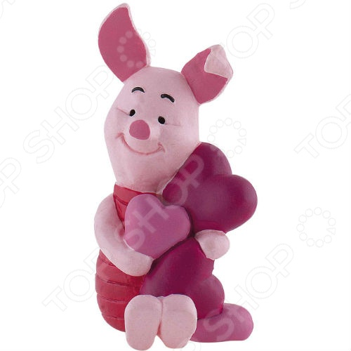 Фигурка-игрушка Bullyland Пятачок и сердце