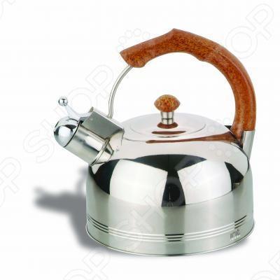 Чайник со свистком Irit IRH-409 оснащен неподвижной нагревающийся ручкой из термостойкого пластика и свистком. Широкое дно обеспечивает устойчивость и быстрое закипание. Это необходимая вещь для любого чаевника или кофемана. Ручка хоть и сделана из пластика, но выглядит как деревянная. Для этого чайника не нужна дополнительная розетка, просто поставьте его на плиту и через несколько минут вода вскипит о чем и оповестит встроенный свисток.
