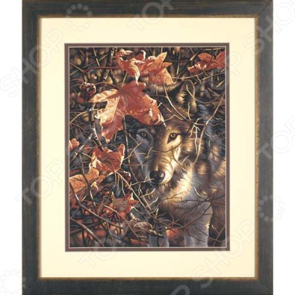 Набор для рисования по номерам Dimensions «Волк в осеннем лесу»