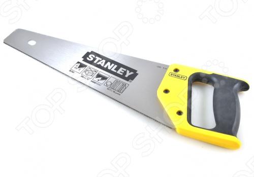 Ножовка STANLEY универсальнаяЛобзики. Ножовки. Пилы<br>Ножовка STANLEY универсальная оснащена острым режущим полотном, изготовленным из высококачественной шведской стали. Данный инструмент подходит для пиления древесины, ДСП, ламината, пластмассы и алюминия. Эргономичная рукоятка позволяет осуществлять распиловку заготовок под углом 45 и 90 градусов.<br>
