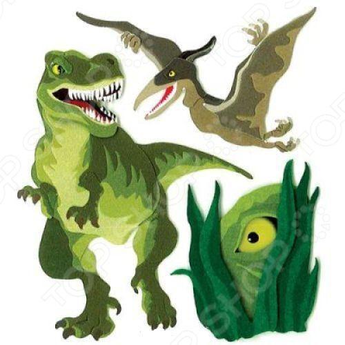 Стикеры ЗD EKSuccess Tools Динозавры это элемент оформления работ в технике скрапбукинг. Стикеры гармонично дополнят дизайн альбомов, открыток и подарочных коробок, картин, аппликаций любых поделок, связанных с бумагой, которые подскажет вам фантазия! Размер: 9,5х10,5 см . Скрапбукинг это возможность не только украсить свой дом, но и приготовить своими руками оригинальные и запоминающиеся подарки. Живописные альбомы ручной работы, наполненные семейными фотографиями и памятными мелочами, на долгие годы сохранят самые любимые и яркие моменты жизни. Выбирайте понравившиеся стикеры, фантазируйте, придумывайте, удивляйте! Желаем творческих успехов!