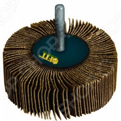 Диск лепестковый для дрели FIT радиальныйНасадки для шлифования, полировки, чистки<br>Диск лепестковый для дрели FIT радиальный представляет собой отличный инструмент, с помощью которого вам удастся выполнить все необходимые работы качественно и в срок. Используя его вы без труда сможете должным образом обработать сложные детали и конструкции различных марок стали, цветных металлов, пластмассы, древесины и других материалов. Применяется, как во время чернового, промежуточного, так и во время окончательного шлифования.<br>