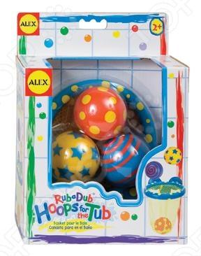 Игра для ванной ALEX Мячики в сетке очень удобна и практична в использовании. данная игра понравится как деткам, так и взрослым. Рекомендуется деткам от 2 лет. Сетка легко прикрепляется к стенке ванны с помощью присосок. В наборе: баскетбольная сетка на присосках, 3 разноцветных мячика.