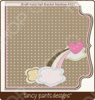 фото Бумага для скрапбукинга двусторонняя Fancy Pants Half Bracket Rainbow, купить, цена