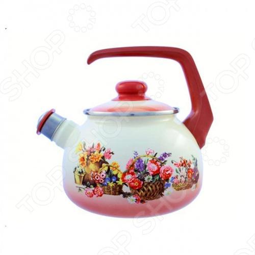 Чайник со свистком Metrot Краски лета кастрюля с крышкой metrot краски лета