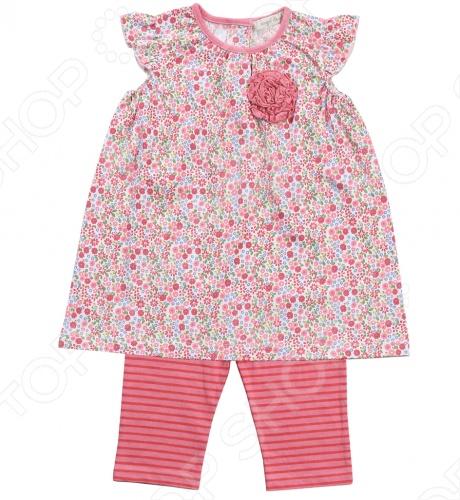 Angel Dear, создает классическую одежду для новорожденных и детей младшего возраста от 0 до 4 лет . При создании учитываются самые современные тенденции в мире моды, и особое внимание уделяется деталям. Каждая коллекция имеет свой неповторимый стиль, который дополняется различными милыми аксессуарами, чтобы сохранить ощущения столь сладостного периода детства. Комфорт ребенка - основополагающий принцип в создании коллекций каждого сезона. Линии одежды Angel Dear вы можете увидеть в лучших бутиках и магазинах по всей территории США. Платье с капри Angel Dear Maggie. Милый комплект из 100 хлопка , состоящий из платья и капри. Платье без рукавов, оформлено рюшами, сзади застежка на 3 пуговицы. Капри выполнены из ткани в полоску, свободного кроя, на эластичной резинке. Прекрасный вариант для повседневной носки. Состав: 100 хлопок.