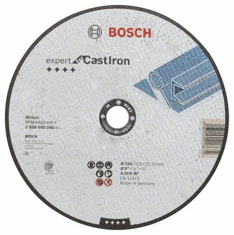 Диск отрезной Bosch Expert for Cast Iron 5 cast iron caster universal swivel castor with brake
