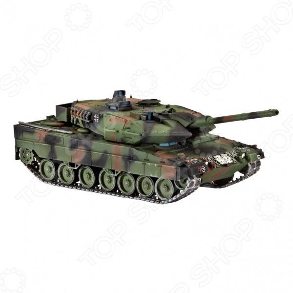 Сборная модель Leopard 2 A6 A6M представляет собой точную копию настоящего танка. Состоит из 168 деталей, которые юный механик должен собрать сам. Во время игры с такой машиной у ребенка развивается мелкая моторика рук, фантазия и воображение. Немецкий современный танк выпущен известной компанией по производству игрушек Revell. Изготовлен из пластика и обладает потрясающей детализацией. Сборная модель Leopard 2 A6 A6M является отличным подарком не только ребенку, но и коллекционеру. Клей, кисточка и краски в комплект не входят.