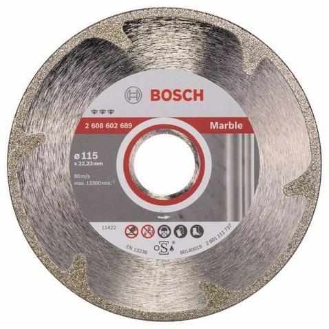 Диск отрезной алмазный для угловых шлифмашин Bosch Best for Marble диск отрезной алмазный турбо 115х22 2mm 20006 ottom 115x22 2mm