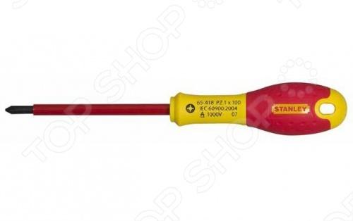Отвертка диэлектрическая Stanley FatMax 1000V диэлектрическая отвертка fatmax 1000v ph0х75 мм stanley 0 65 414