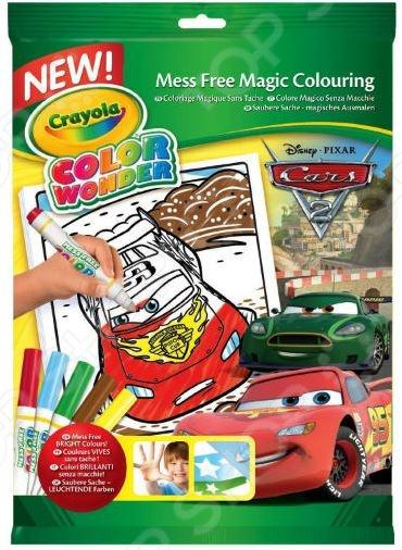Раскраска с фломастерами Crayola «Тачки» раскраска crayola color wonder тачки 12787