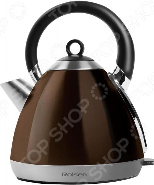 Чайник Rolsen RK-2712MЧайники электрические<br>Чайник Rolsen RK-2712M - сочетает в себе традиционный дизайн и современные технологии. Это оригинальный электрический чайник для вашей кухни. Нагревающим элементом служит закрытая спираль. Корпус изготовлен из нержавеющей стали. При закипании чайник автоматически выключается. Чайник выполнен в красивом классическом стиле. Эта модель станет прекрасным украшением любой кухни.<br>