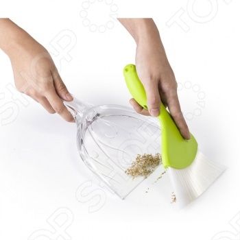 Набор из совка и щеточки для уборки крошек Qualy Sparrow дополнит оригинальную коллекцию кухонных аксессуаров современной хозяйки. Теперь вы сможете убрать крошки со стола, не пачкая руки. Этот компактный набор украсит интерьер любой кухни. Компания Qualy очень заботится и об окружающей среде. Вся продукция делается только из перерабатываемых материалов. Но самое главное это дизайн. Каждая вещь это отдельное произведение искусства, обязательно напоминающее нам о том, что мир состоит из ярких цветов.