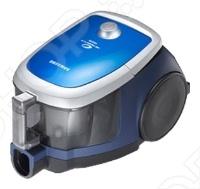 Стильный пылесос без мешка для сбора пыли, с большим контейнером емкостью 2 литра и HEPA фильтром. Технология Twin Chamber System гарантирует качественную уборку, поддерживая высокую мощность всасывания даже при заполненном пылесборнике. Двухкамерная система для сбора пыли Twin chamber Plus . В двухкамерной системе для сбора пыли Twin Chamber Plus одна камера предназначена для частиц пыли, а другая камера для формирования вихревого воздушного потока. Внутренняя камера контейнера увеличена по высоте и сужена. Это позволяет при сохранении внешнего объема увеличить внутренний объем пылесборника до 2 л. Изменена и форма крышки. Она сконструирована таким образом, чтобы препятствовать проникновению пыли в систему фильтрации. Дышите чистым воздухом. В пылесосах Samsung используются HEPA микрофильтры для очистки воздуха на выходе из пылесоса. Эти фильтры улавливают микрочастицы пыли и другие аллергены, благодаря чему воздух в помещении очищается. Эффективность очистки воздуха фильтрами HEPA сертифицирована немецким институтом стандартов. Экономия и простота использования. Одним из основных недостатков обычных современных пылесосов это необходимость регулярно закупать запасные мешки для сбора пыли. Благодаря двухкамерной безмешковой системе для сбора пыли вам не нужно тратить время и деньги на приобретение запасных мешков.