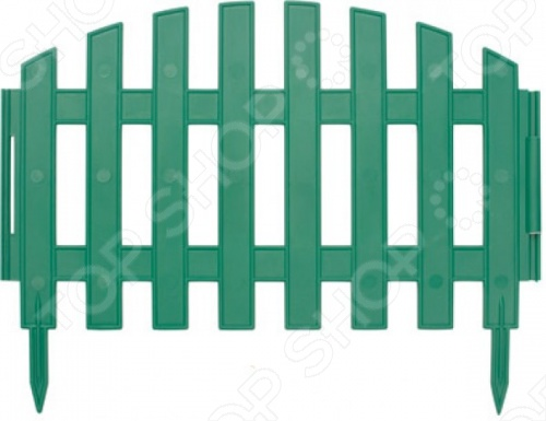 Забор декоративный предназначен для ландшафтного дизайна садового участка. Элегантный вид ограждения поможет обновить сад и добавить изюминку, а также произвести деление участка на зоны. Выполнен из полипропилена, устойчивого к негативным воздействиям окружающей среды. Конструкция очень легко собирается. В комплекте 7 штук высотой 25 см и длиной 43 см при соединении 7 секций длина составляет 3 метра .