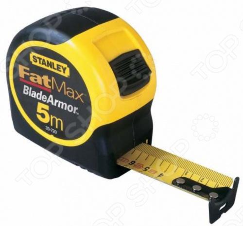 Рулетка STANLEY FatMax является простым и удобным в применении приспособлением, которое используется для проведения измерительных работ. Корпус изготовлен из ударопрочного АБС-пластика. Мерная лента имеет специальное покрытие Mylar, оно увеличивает срок службы изделия. Крючок необходим для проведения точных измерений и остановки ленты при сматывании. Зажим позволяет транспортировать рулетку на поясном ремне. Фиксатор используется для торможения ленты во время измерений или разметки.