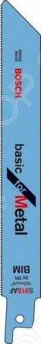 Набор пилок сабельных Bosch S 918 AНожовочные полотна<br>Набор пилок Bosch S 918 A предназначен для распиловочных работ по листовому металлу, замкнутым трубам и профилям при помощи сабельной электроножовки. Для большей эффективности пилка имеет волнистые фрезерованные зубья с шагом 1 мм. Общая длина составляет 150 мм. Качественное биметаллическое полотно отлично справится с толщиной листового металла от 1 до 3 мм, а с трубами и профилем до 100 мм.<br>
