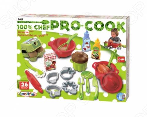 Набор посудки Ecoiffier с продуктами 2617 набор продуктов ecoiffier набор для огорода в корзине 567