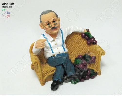 Подставка для вина Drivemotion Дедушка с бутылкой на дивание