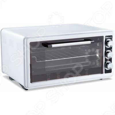 Мини-печь Saturn 1077 предназначена для приготовления блюд, поджаривания на гриле, выпечки и подрумянивания уже готовых блюд. Печь имеет 3 режима нагрева: верхний, нижний, комбинированный. Регулируемый термостат до 320 0С позволит задать нужную температуру. Таймер на 90 минут с функцией автоотключения позволит вам заниматься другими делами во время приготовления. Об окончании приготовления вас известит специальный сигнал. Благодаря регулировке высоты противня, вы можете готовить объемные продукты, например, целого цыпленка.