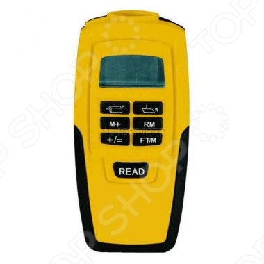 Дальномер ультразвуковой FIT - ультразвуковой дальномер с лазерной указкой. Данная модель имеет жидкокристаллический дисплей и несколько режимов работы для измерения площади, объема, длины и текущей температуры. К особенностям можно отнести - расчёт площади, объёма, измерение длины, определение текущей температуры от 0 С до 40 С . Диапазон измерений: от 0.6 до 15 м. Непрерывный режим измерения. Источник питания: 1х9В тип Крона . Материал: пластиковый корпус. Упаковка: блистер.
