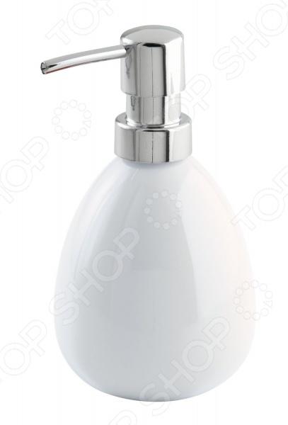 Диспенсер для мыла Wenko Polaris - отличный вариант для тех кто предпочитает жидкое мыло. Модель выполнена из керамики, удобна и практична в использовании, так как всегда выдает отмеренные порции жидкого мыла. Керамический дозатор устойчив к влаге и перепадам температуры. Интересный дизайн модели выгодно подчеркнет индивидуальный стиль вашей ванной комнаты.
